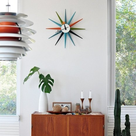 georgenelson sunburst clock