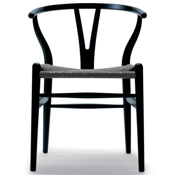 hanswegner black wishbone chair