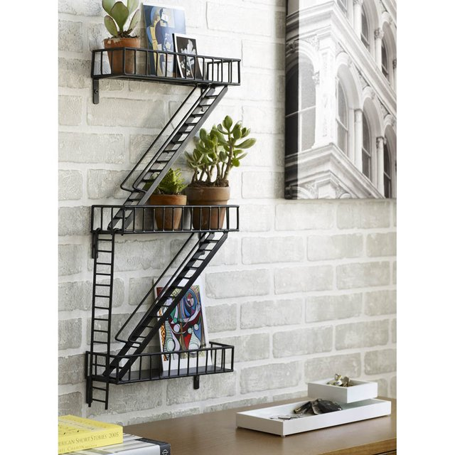 fancy fire escape shelf